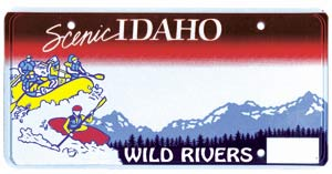 Idaho Wild Rivers License Plate